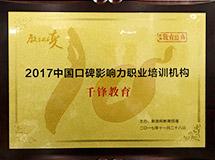 中国口碑影响力职业培训机构