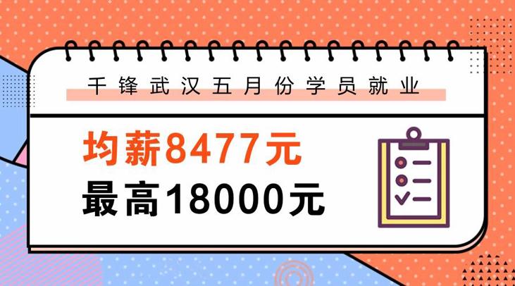 千锋武汉校区2018年5月学员就业均薪8477元 最高18000元