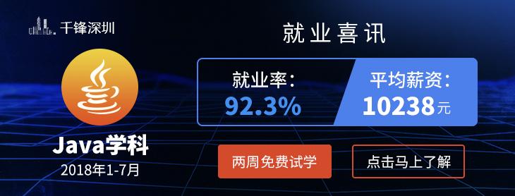 千锋深圳Java培训上半年就业喜讯 平均月薪10238元